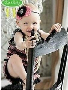 e74e11478cbf Image is loading Baby-girl-lace-petti-ruffle-frill-romper-amp-
