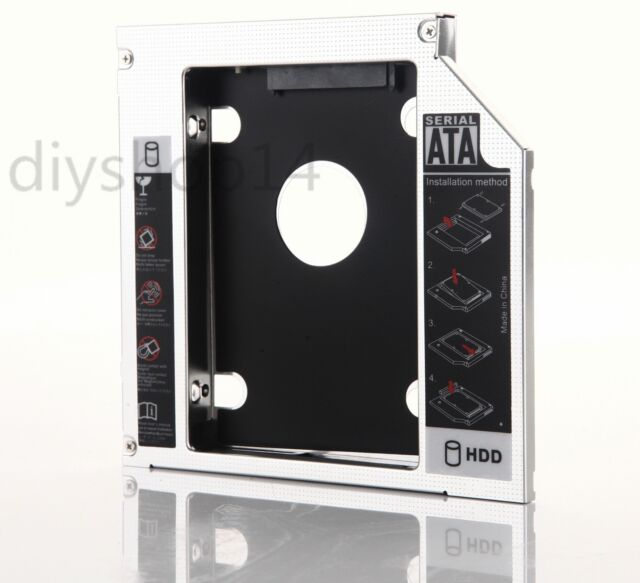 2nd Hard Drive HD SSD Caddy Adapter For Fujitsu lifebook T900 T901 Swap SN-208AB