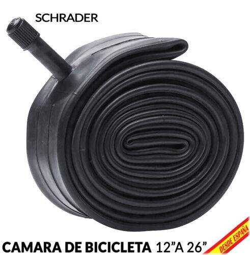 Camara Rueda de Bicicleta Valvula Shrader 12 14 18 22 24 26 pulgadas MTB a BMX