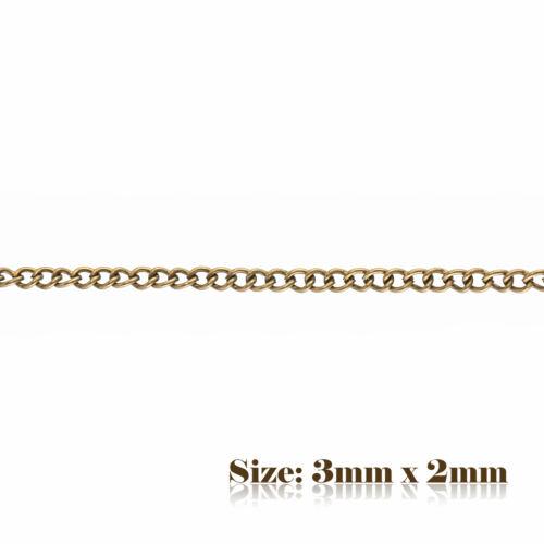 5 M 3x2mm BRONZE style vintage Twist Ovale Chaîne Pour Fabrication De Bijoux 004