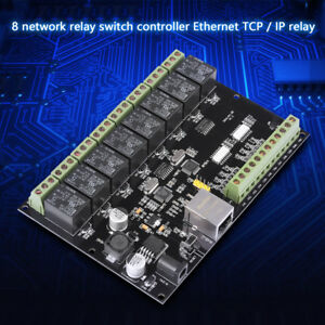 8Way Network Relay IPEthernet Access Controller TCP MODBUS 8 in 8