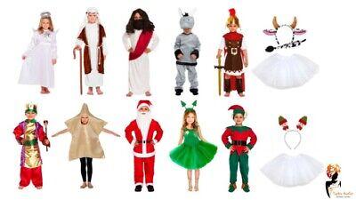 BOYS DONKEY CHRISTMAS NATIVITY SCHOOL PLAY FANCY DRESS COSTUME OUTFIT 4-12 YRS