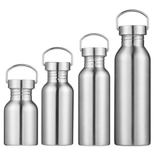 Stainless Steel Water Bottle Sports Cup Outdoor Camping Hiking Sport Flask New