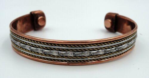 Bracelet magnétique en cuivre avec aimants Anti-Douleurs Rhumatisme Arthrose N7