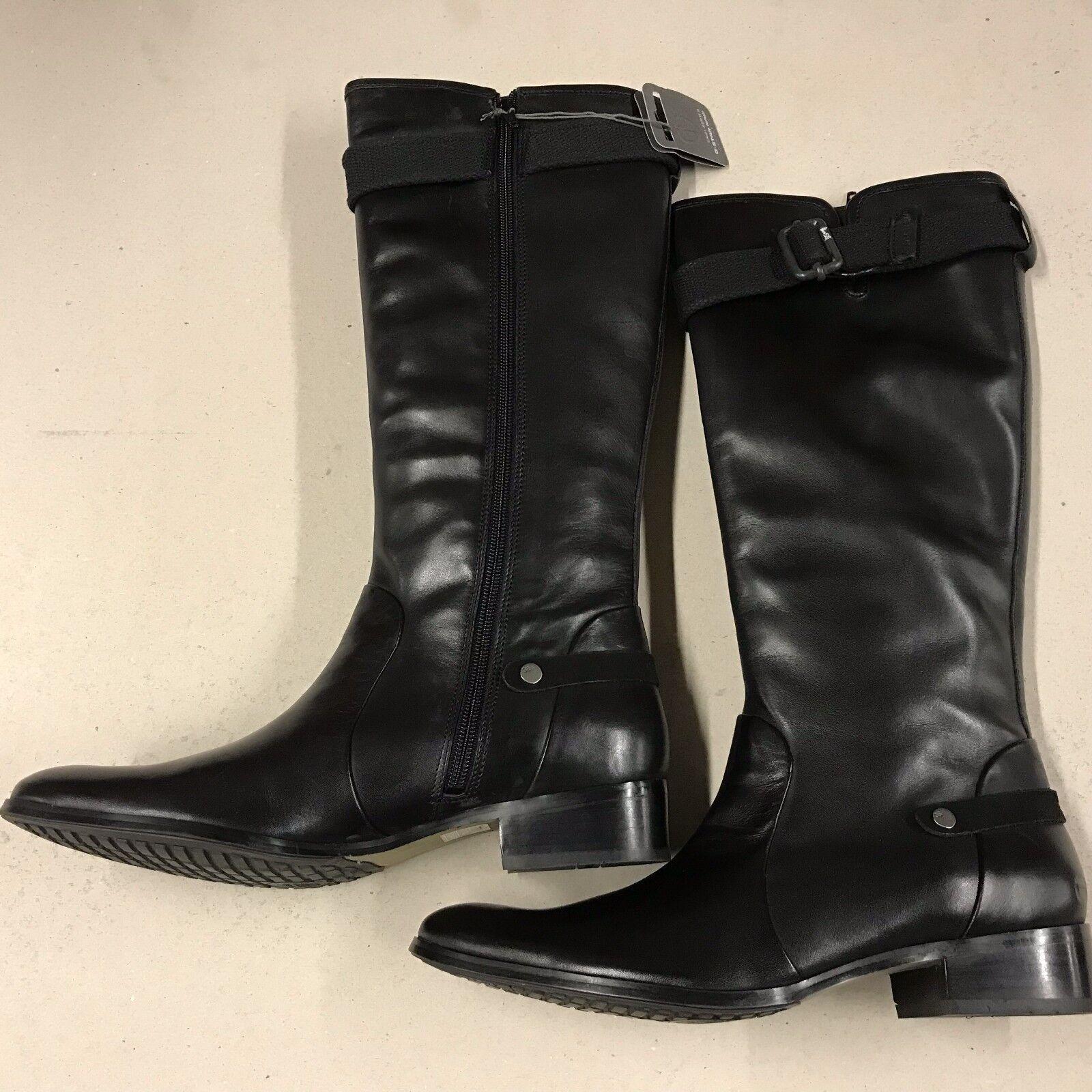 G Hebilla Star Raw Negro Knee High bota Cuero Hebilla G Detalle Talla 5 Ganga 865556