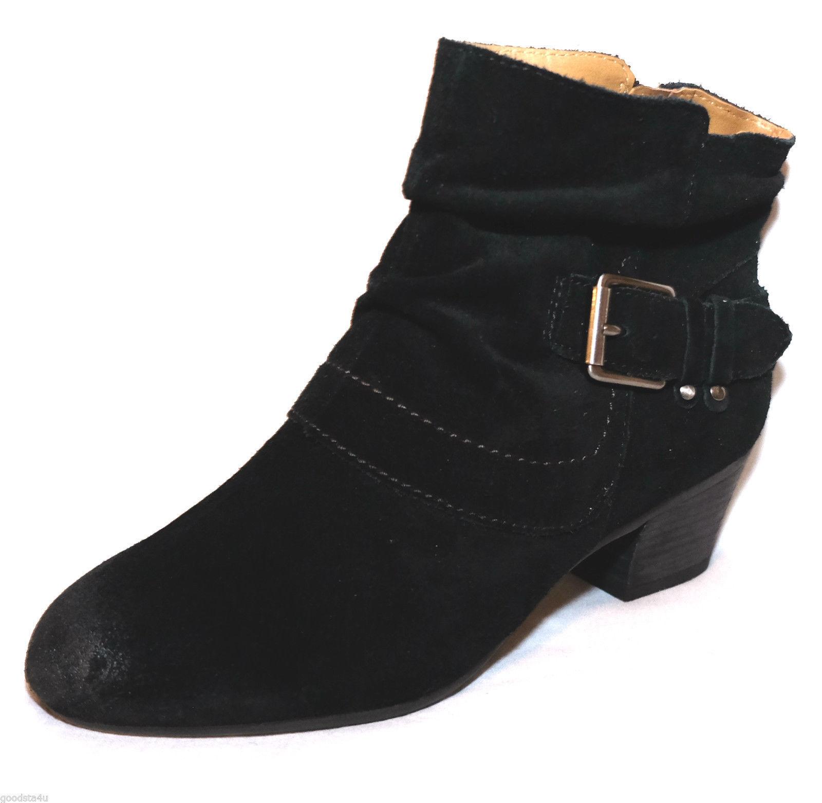 womens Clarks ladies ancle boots MELANIE JUDE black suede size 8 d