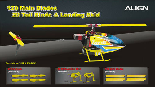 Align 20 Tail Blade-Yellow T-Rex 150