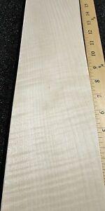 "English Sycamore Figured wood veneer 4"" x 18"" raw no backing 1/42"" thickness AA"