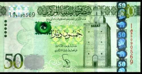 LIBYA   50  DINARS  2013  Serie 1  P 80 1 Uncirculated Banknotes