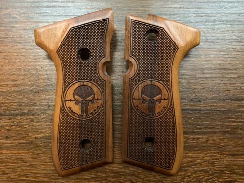 US Based Seller 96 Walnut Grips Handmade Special Design 92FS Beretta 92F M9