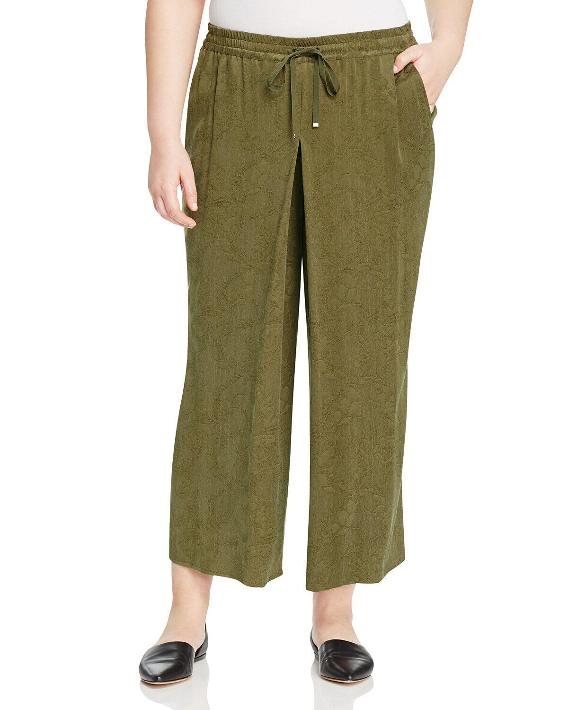 MARINA RINALDI Women's Army Green Camino Floral Pants  NWT