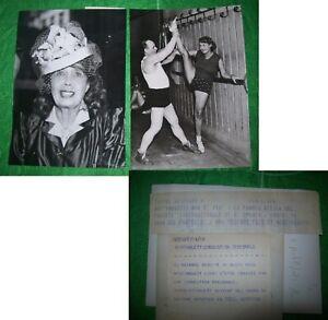 LOTTO-2-FOTO-MISTINGUETTE-BALLERINA-MOULIN-ROUGE-05-01-1958-VINTAGE