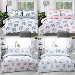Image Is Loading Animal Duvet Cover Set Elephant Cats King Size