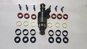 Rochester-Chevy-GM-Fuel-Injector-Rebuild-Repair-Kit-Oring-Seals-Filter-6-Cyl