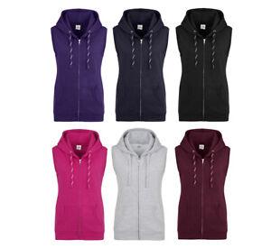 best website 7b1e3 8caf5 Details zu Damen Sleeveless Zip Hoodie Kapuzenjacke ohne Ärmel Weste