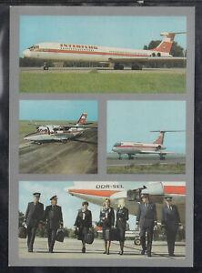 DDR-Ak-Flughafen-Interflug-Stewardessen-Piloten-Flugzeuge