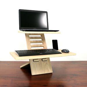 Stand Desk Medium Oak - Laptop Stehpult, Standing desk, Erhöhung, Stehtisch