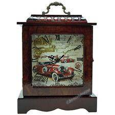 RETRO Tischuhr Standuhr Kaminuhr Nostalgie Stil Oldtimer Uhr Holz Quartzuhr NEU