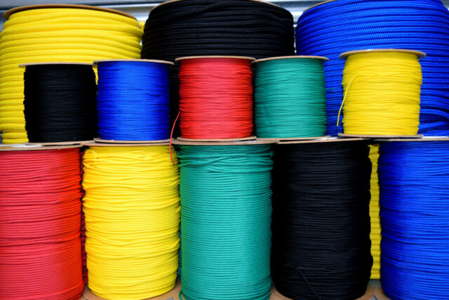 Polyester Rope PES 6mm 100m Black Braided