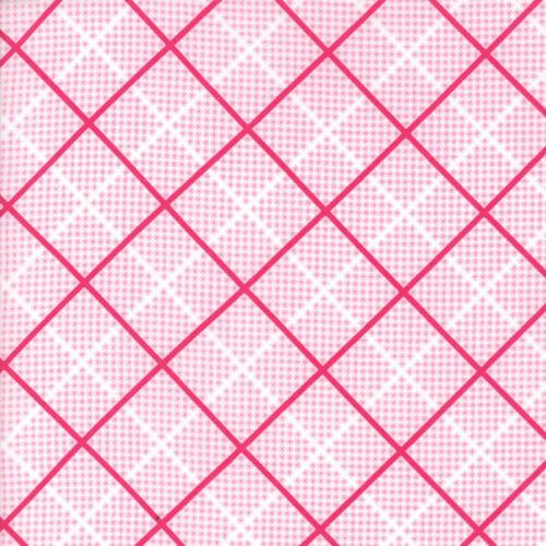 Moda Tissu batifoler Plaid ludique Rose-par 1//4 mètre