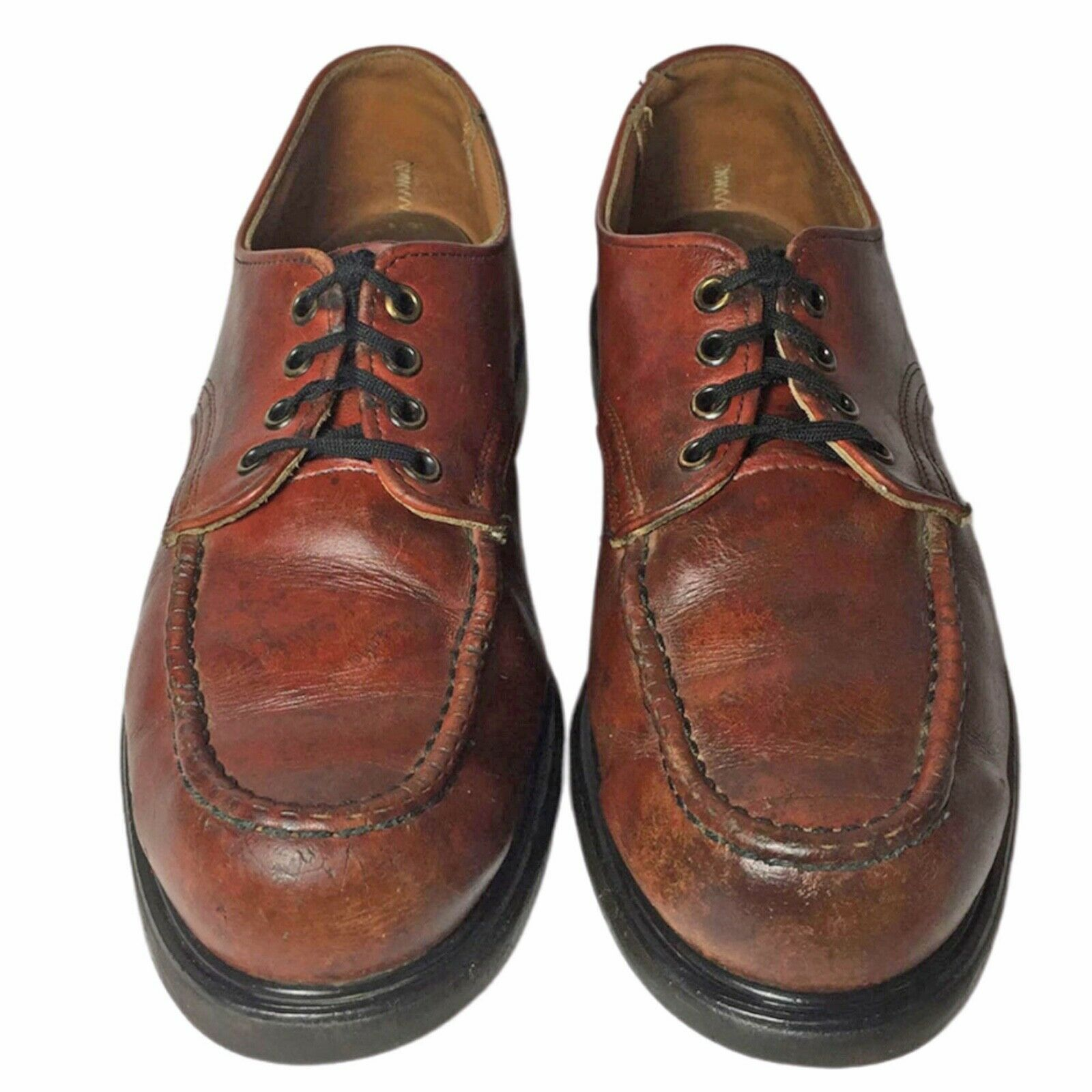 RED WING® Vintage 90's Postman Brown Leather Oxfo… - image 1