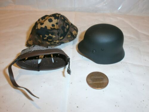 and cloth camo cover 1//6th scale toy accessory Toys City German Helmet metal