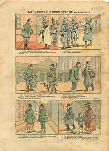 WWI-Caricature-Guerre-Pickelhaube-Wilhelm-II-Zeppelin-Poilus-1917-ILLUSTRATION