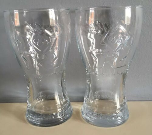 2 X London 2012 Olympics Coca Cola Glasses Limited Edition