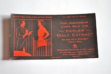 """Vintage """"Rare""""  Advertising Blotters and Bookmarks - Kepler Malt Extract"""