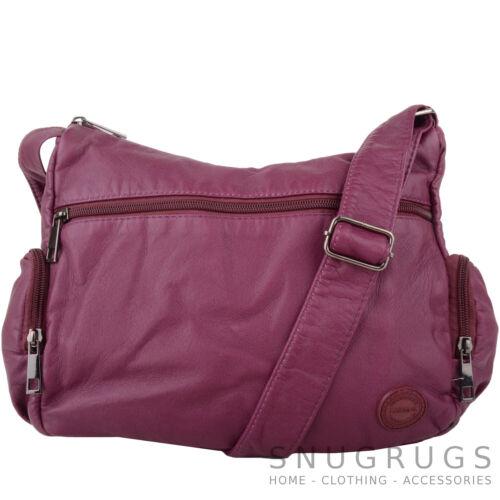 Ladies Womens Super Soft Faux Leather Hand Bag Shoulder Bag Multiple Pockets
