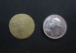 10 High Quality Brass Tobacco Pipe Screen Filters 1 inch - Shipping Disc Avail