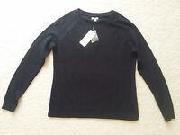 Sonoma Life+style Womens Black Crew Neck Long Sleeve Sweater Sz.ps $36