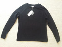 Sonoma Life+style Womens Black Crew Neck Long Sleeve Sweater Sz.ps $36