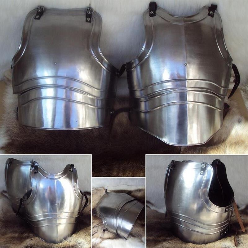 Steel Classic Re-Enactment Breasplate - Ideal For LARP   Re-Enactment 18g