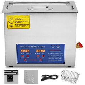 10-L-Pulitore-Ad-Ultrasuoni-Lavatrici-Digitale-Coperchio-In-Acciaio-Inox-Cesto