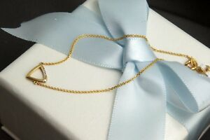 Triangle-Bracelet-with-2pcs-Natural-Diamonds-in-9K-Yellow-Gold-amp-Tiffany-Chain