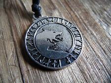 Runen Wolf Anhänger mit Band - Werwolf Runes Vikings WIkinger Futhark