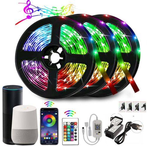 Smart Alexa WiFi LED Strip Lights 15m 20M with APP Phone Remote Color Changing