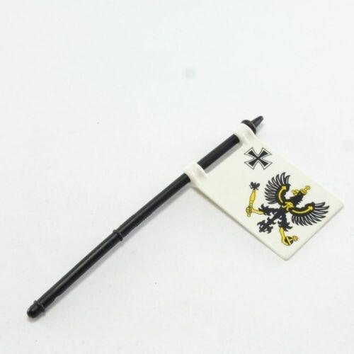 17002 Playmobil Drapeau Prussien avec Hampe très rare