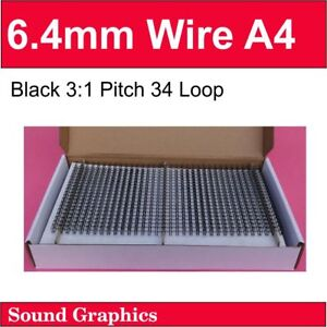 """6mm, 6.4mm Or 1/4"""" TWIN LOOP BINDING WIRE Box of 100 - Black/White/Si<wbr/>lver/Gold"""
