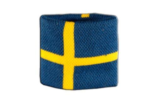 Schweißband Fahne Flagge Schweden 7x8cm Armband für Sport