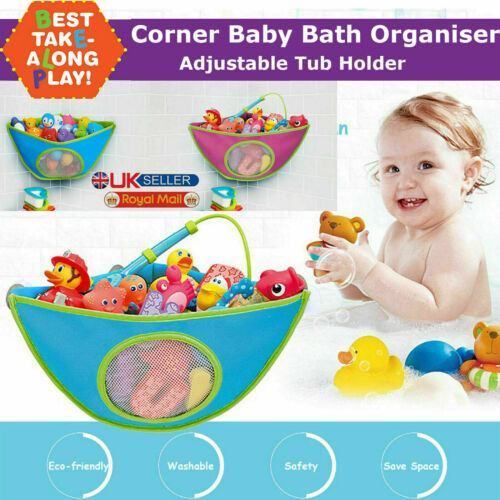 Waterproof Kids Baby Bath Toy Tidy Organiser Mesh Net Storage Bag Pouch Holder