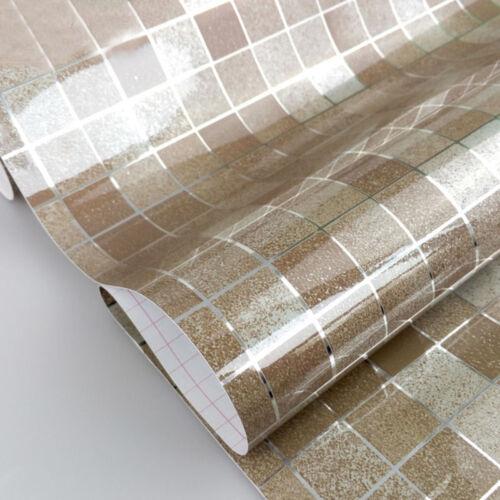 Kitchen Tile Wallpaper Bathroom Waterproof Mosaic Wall Sticker Aluminum Foil