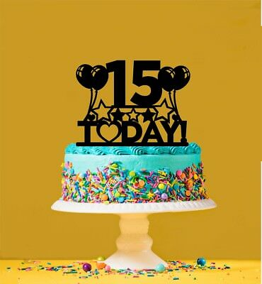 Strange 15Th Birthday Cake Topper 15 Years Old Fifteenth Ebay Funny Birthday Cards Online Fluifree Goldxyz