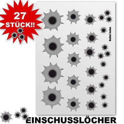 EinschusslÖcher Aufkleber Sticker 27 Stk Helm Wand Fahrrad Laufrad & Bobbycar Auto & Motorrad: Teile Motorrad-motorsport
