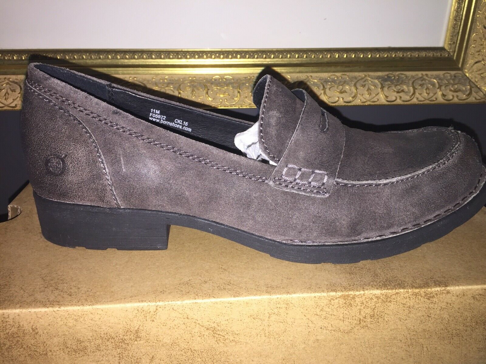NEW Born Clog Penny BURR Loafers - Comfort PELTRO Distressed Leather WMS SZ 11