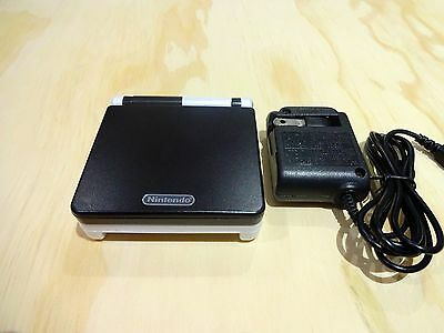 Nintendo Game Boy Advance GBA SP System AGS 101 Brighter Black + White MINT NEW
