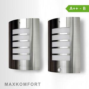 Fabulous Außenleuchte LED Wandleuchten Edelstahl Außenlampe Bewegungsmelder WZ05