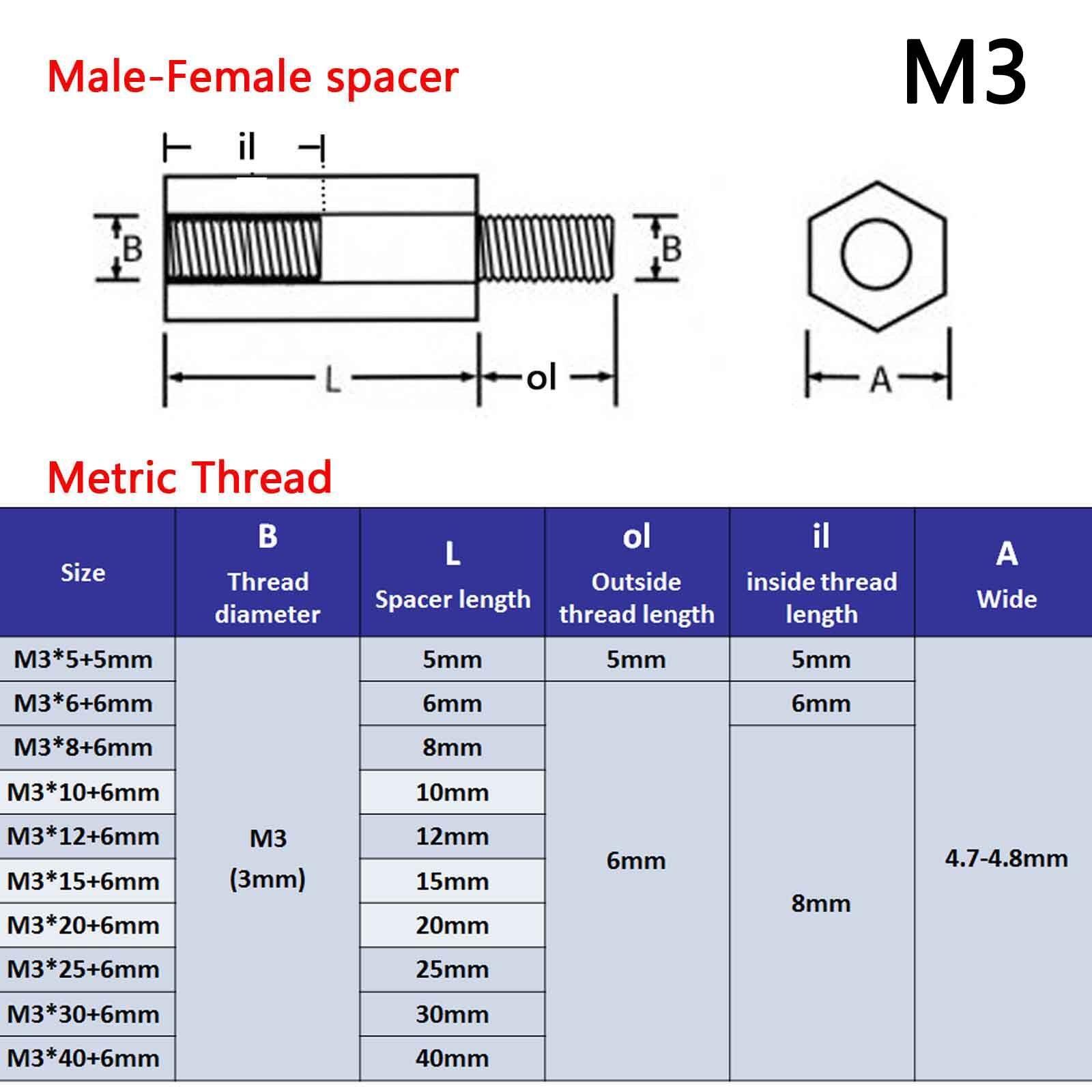 25/50/100pcs Brass M2 M3 Hex Column Standoff Support Spacer Screw