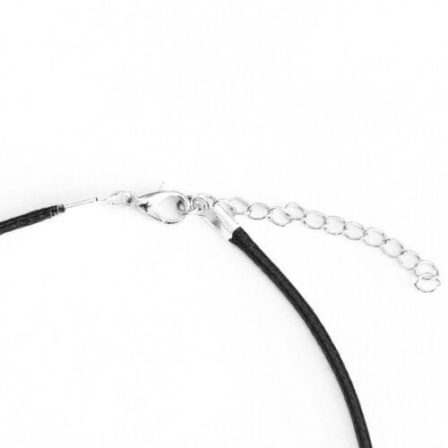 Turquoise White Elephant Charm Pendant Choker Necklace with Black Cord